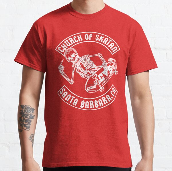 Church of Skatan (white) Classic T-Shirt RB01705 product Offical SK8 The Infinity Merch