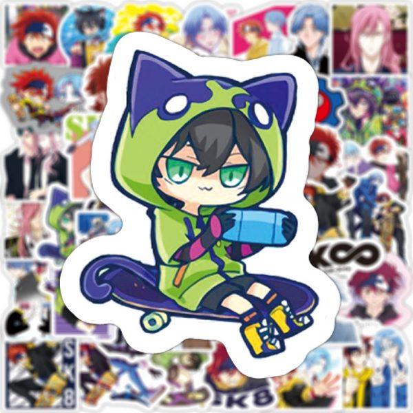 10 30 50PCS Anime SK8 the Infinity Cartoon Graffiti Stickers Travel Luggage Guitar Fridge Laptop DIY 2 - SK8 The Infinity Store