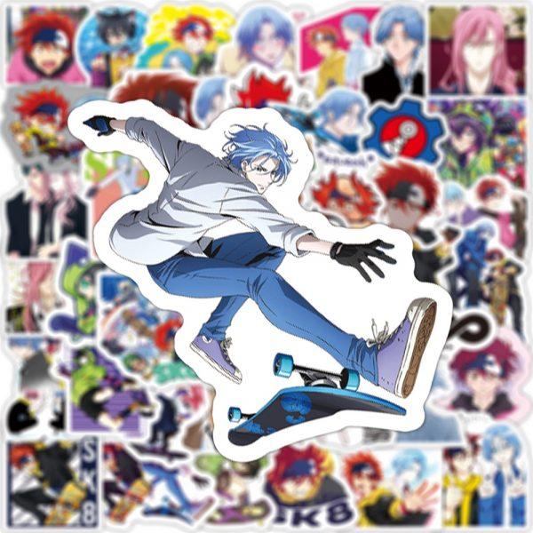 10 30 50PCS Anime SK8 the Infinity Cartoon Graffiti Stickers Travel Luggage Guitar Fridge Laptop DIY 3 - SK8 The Infinity Store