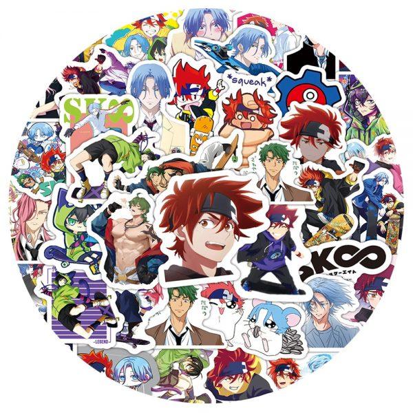 10 30 50PCS Anime SK8 the Infinity Cartoon Graffiti Stickers Travel Luggage Guitar Fridge Laptop DIY 5 - SK8 The Infinity Store