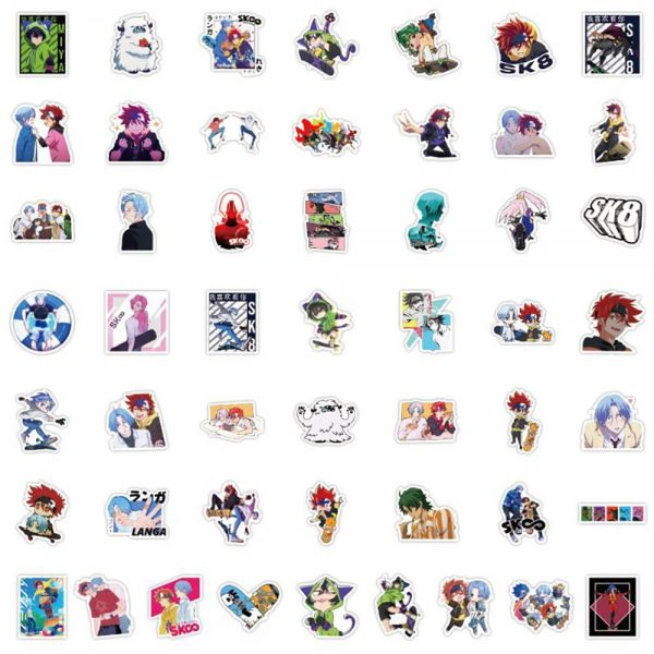 10 30 50PCS Anime SK8 the Infinity Cool Cartoon Stickers Graffiti DIY Motorcycle Travel Luggage Guitar 5 - SK8 The Infinity Store