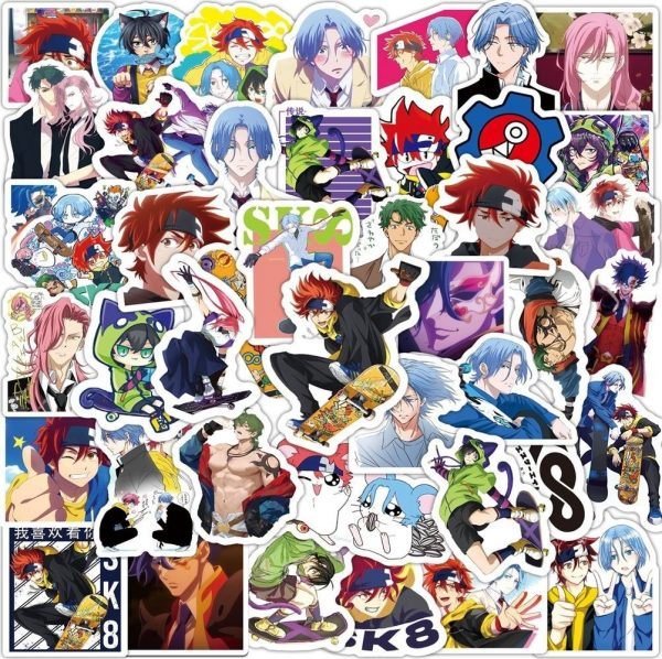 10 50 100PCS SK8 the Infinity Anime Stickers DIY Travel Skateboard Suitcase Guitar Luggage Laptop Classic 1 - SK8 The Infinity Store