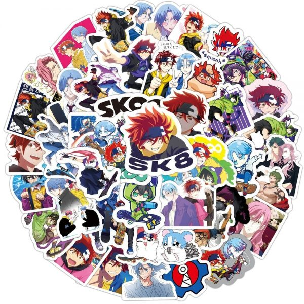 10 50 100PCS SK8 the Infinity Anime Stickers DIY Travel Skateboard Suitcase Guitar Luggage Laptop Classic - SK8 The Infinity Store