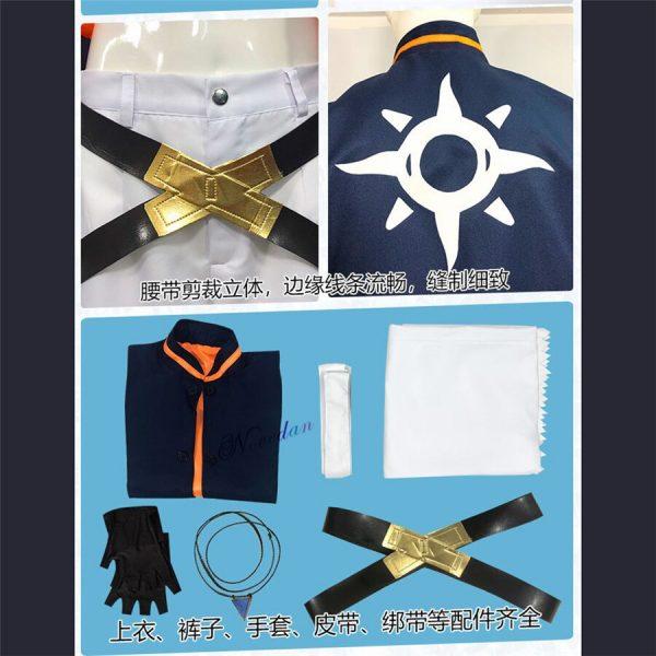 Anime SK8 The Infinity Joe Kojirou Nanjou Cosplay Costume Full Set Jacket Belt Necklace Wig Party 4 - SK8 The Infinity Store