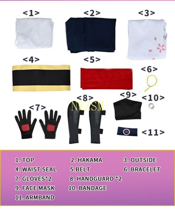 Anime SK8 the InfInIty Cherry blossom Cosplay Costumes Top Pants Accessories Full Sets Wig Synthetic Hair 4 - SK8 The Infinity Store