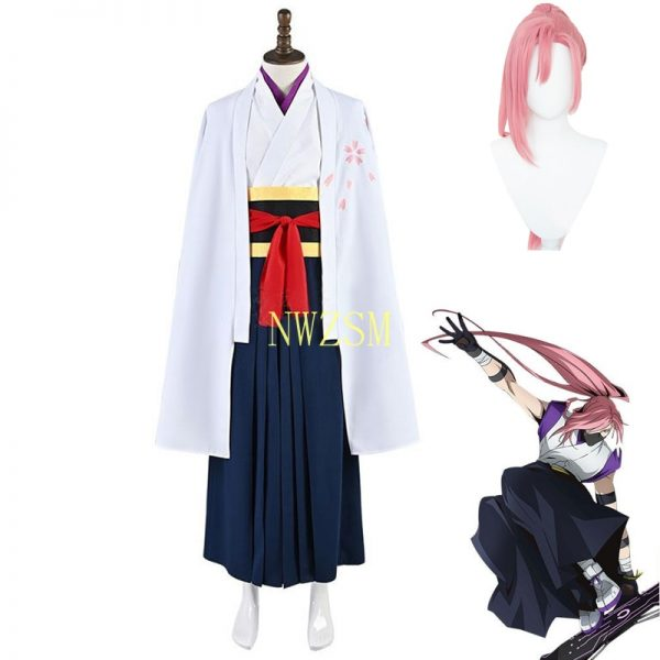 Anime SK8 the InfInIty Cherry blossom Cosplay Costumes Top Pants Accessories Full Sets Wig Synthetic Hair - SK8 The Infinity Store