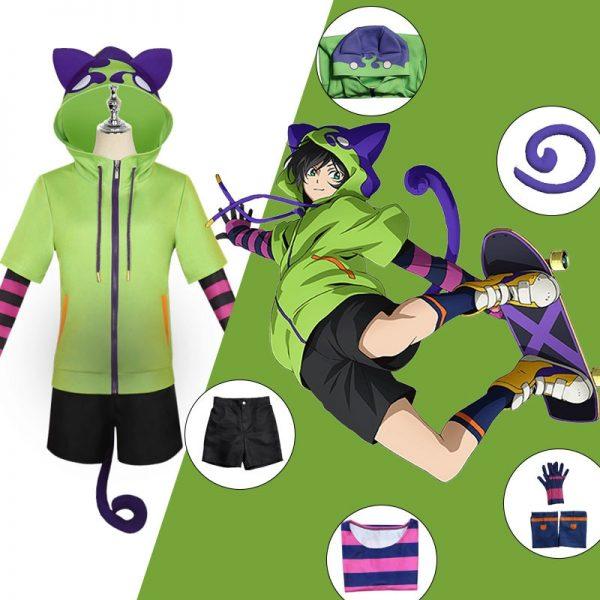 SK8 the Infinity Miya Chinen Hoodie Cosplay Costumes Hooded Zipper Sweatshirt Anime SK Eight Streetwear Pullover - SK8 The Infinity Store