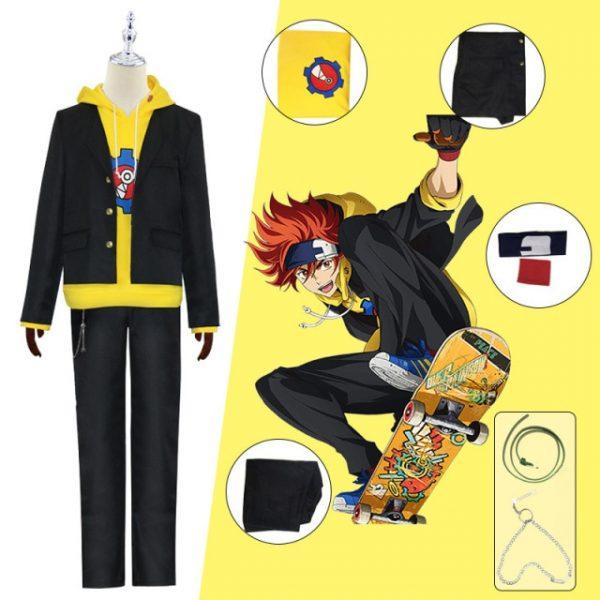 SK8 the Infinity Miya Chinen Hoodie Cosplay Costumes Hooded Zipper Sweatshirt Anime SK Eight Streetwear - SK8 The Infinity Store