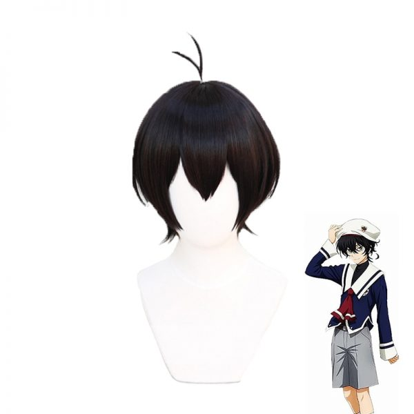 Sk8 the Infinity Miya Cosplay Wig Short Black Wig Cosplay Anime Cosplay Wigs Heat Resistant Synthetic - SK8 The Infinity Store