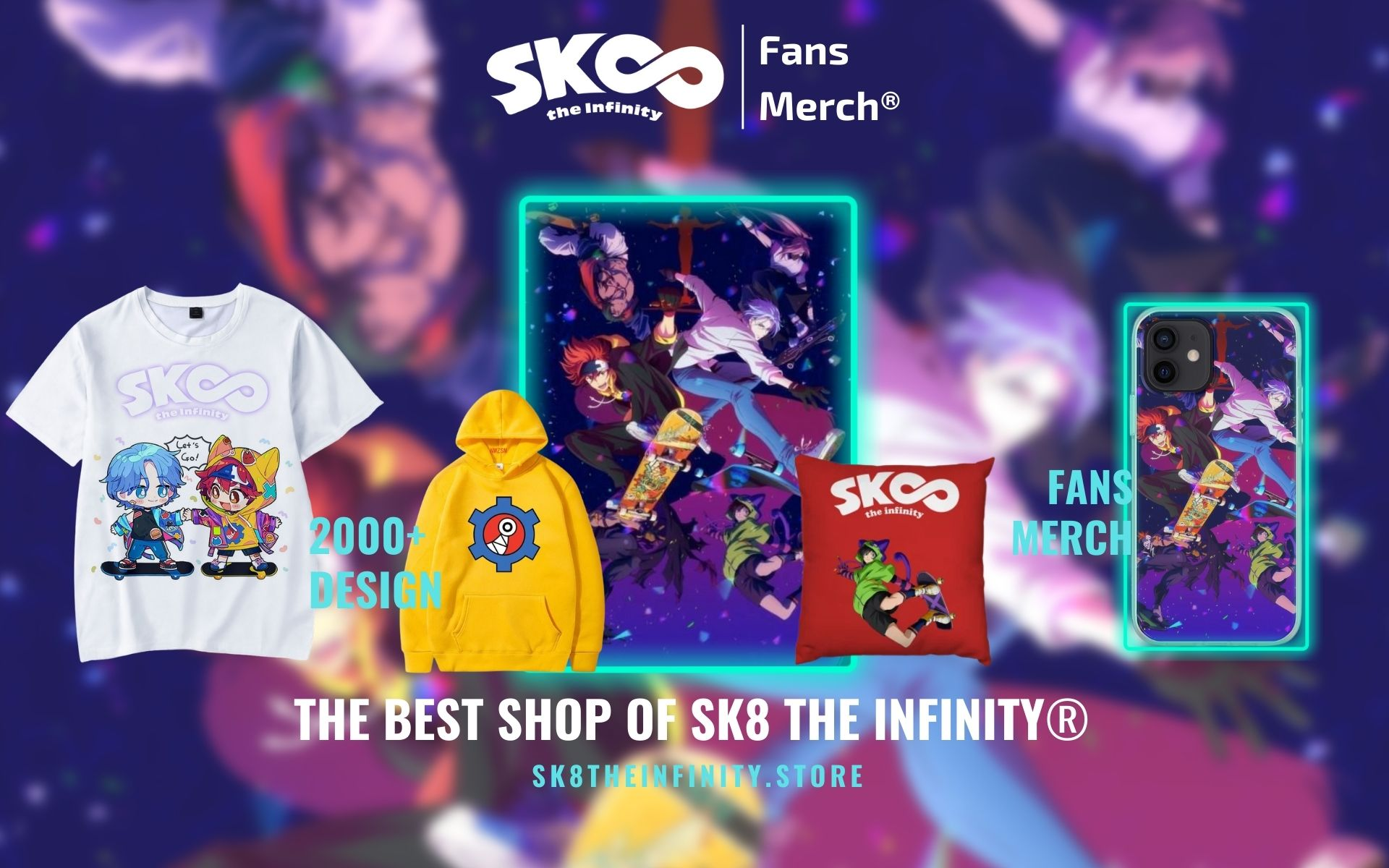 SK8 The Infinity Merch Web Banner - SK8 The Infinity Store