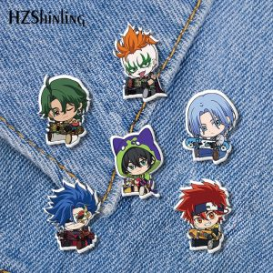2021 New Anime SK8 The Infinity Acrylic Lapel Pin Miya Reki Epoxy Butterfly Clasp Pin Handmade - SK8 The Infinity Store