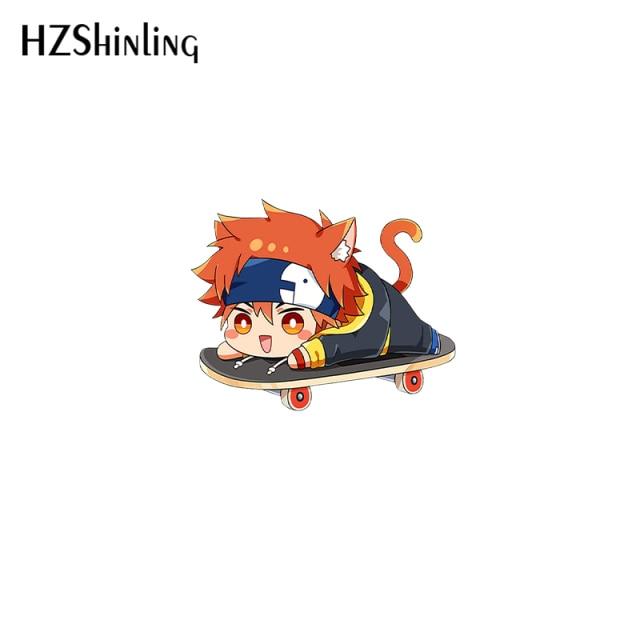 2021 New Anime SK8 The Infinity Acrylic Lapel Pin Miya Reki Epoxy Butterfly Clasp Pin Handmade 8.jpg 640x640 8 - SK8 The Infinity Store